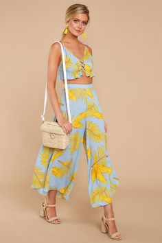 Trendy Tropical Print Two Piece Set - Chic Two Piece Set - $54.00 – Red Dress Boutique