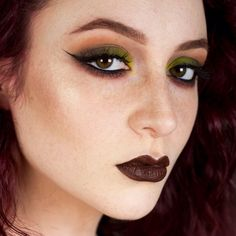 coffee_pls: Another live shot from when hell froze over yesterday, aka when I used green eyeshadow and liked it. Inspired by @ambermdean Shadows are @makeupgeekcosmetics Dirty Martini, Cocoa Bear, and Bitten (lower lash line), Thrash from Urban Decay Electric palette, MUFE No. 162 (burgundy on lower lash line, old numbering system), @blackbirdcosmetics Fire Pledge to make the crease more orange, some dark brown and black from Nude'Tude to smoke it all out and deepen the crease…