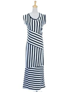 Anna-Kaci S/M Fit Black and White Abstract Striped « Impulse Clothes
