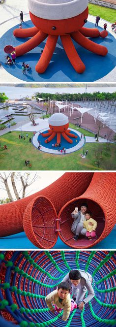 A Giant Friendly Octopus Forms an Immersive Playground for Children in Shenzhen