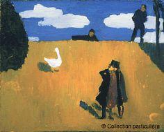 Edouard Vuillard,Ganso,© (1868-1940)Ganso Hacia 1890-1891Óleo sobre cartón dimenciones Alt. 22; Anch. 27 cm.Colección particular