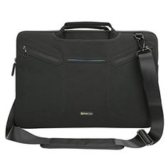 Evecase Multifunctional Carrying Messenger Case with Handle and Shoulder Strap for 17  173 inch Laptops  Black -- Check the link at the image. Amazon Affiliate Program's Ads.