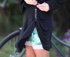biking with the coolest skirt on. xoxo ride!