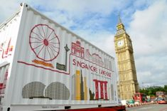 Singapore Takeout, a custom mobile shipping container restaurant, launched its global tour in London. Read more: New Pop-Up Shipping Container Restaurant Brings a Taste of Singapore to the World