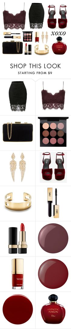 """""""Pick me up at 8"""" by banzi-k ❤ liked on Polyvore featuring LE3NO, Topshop, MICHAEL Michael Kors, MAC Cosmetics, Stephen Webster, Privileged, Tiffany & Co., Dolce&Gabbana, Essie and NARS Cosmetics"""