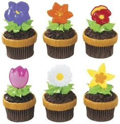 Blooming Flowers Cupcake Picks  24 pcs ** Read more reviews of the product by visiting the link on the image.