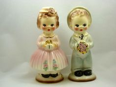 ~~Vintage Josef Originals California Hedy and Teddy Porcelain Figurine Boy and Girl Figurines Circa 1953~~