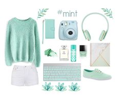 """Mint electro"" by fashionprincess255 ❤ liked on Polyvore featuring Fujifilm, Chicwish, Ally Fashion, Keds, Butter London, Altec Lansing, Chanel and jane"