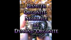 Bismuth WireWrapped Orgonite Pendant, Empaths and Starseeds Jewelry