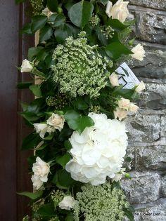 Garland at church door