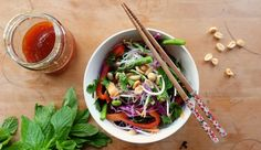 Thai-inspired slaw salad recipe. Delicious.