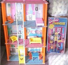 Barbie Townhouse. I think everything about Barbies were so much cooler in the 80s-90s!! childhood-memories