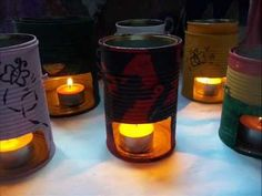 QUÉ HACER CON LATAS DE CONSERVA. - YouTube Pop Can Crafts, Arts And Crafts, Pop Cans, Flora, Recycling, Candles, Canning, Art Work, Tin