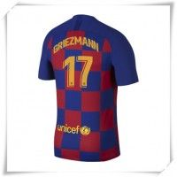 Camisa de Futebol Barcelona Antoine Griezmann #17 Equipamento Principal 2019-20 Manga Curta Antoine Griezmann, Messi 10, Lionel Messi, Camisa Barcelona, Football Shirts, Shorts, Ronaldo, Real Madrid, Psg
