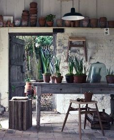 Have a clean work space to spread out on for creative thinking and potting