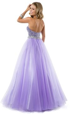 Ball Gown in Tulle with Sparkling Bodice | by FLIRT #love #pastel #prom