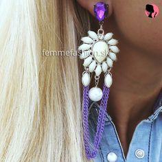 opať výtvor by Femme Fashion -jediný kus  Náušnice Purple Midnightsky http://femmefashion.sk/nausnice/2728-nausnice-purple-midnightsky.html Novinka by Femme Fashion...kedže ma niekedy už nudia niektoré modely náušnic, tak som sa rozhodla, že raz za čas vám nejaké pospajam dokopy a vznikne vám jediný jedinčný kus, ktorý nebude mat nikto okrem Vás, vždy z nich budú len jedny originálne.
