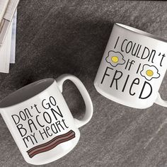 Bacon and Eggs Large Coffee Mugs (Set of (Bacon and Eggs), White, Cathy's Concepts (Ceramic, Solid) Egg Coffee, Large Coffee Mugs, Cute Coffee Mugs, Coffee Mug Sets, Coffee Love, Mugs Set, Tea Mugs, Coffee Beans, Coffee Cups