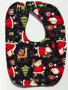 Christmas Bib - Santa Baby Bib - Baby Boy Bib - Baby's First Christmas - Dribble Bib - Toddler Bib - Holiday Bibs - Reindeer Bib - Baby Gift by BeastiesBabies on Etsy