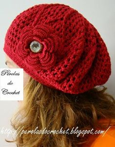 * Pérolas do Crochet: Boina de croche Burguesinha PAP