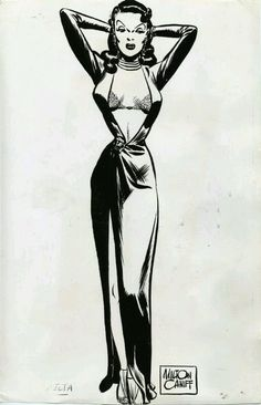 """Dragon Lady"" - illustration by Milton Caniff. Hollywood Glamour, Comic Books Art, Book Art, Female Dragon, Dragon Lady, Milton Caniff, The Pirates, Comics Vintage, Serpieri"