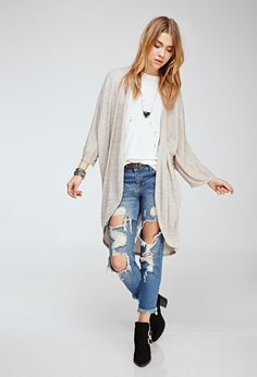 Heathered Maxi Cardigan | Forever 21 UK