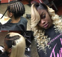 How to sew in weave? Sew In Hairstyles, Black Girls Hairstyles, Ponytail Hairstyles, Pretty Hairstyles, Quick Weave Hairstyles, Hairstyle Ideas, Curly Hair Styles, Natural Hair Styles, Hair Color For Women