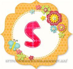"""Nombres """" Eloisa """" Abc Cards, Decorative Plates, Blog, Symbols, Letters, Flowers, Board, Home Decor, Pretty Images"""