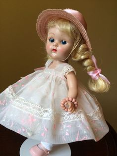 Vintage Vogue PLW Blonde Ginny Doll, Gorgeous Complete Minty Outfit! #DollswithClothingAccessories