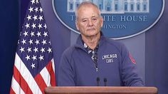 Bill Murray Crashes White House Briefing Room And Starts Answering Questions - http://ffunny.com/bill-murray-crashes-white-house-briefing-room-and-starts-answering-questions/