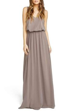 Show Me Your Mumu 'Kendall' Soft V-Back A-Line Gown