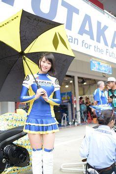 Asian promo girl in white OTK boots Pit Girls, Promo Girls, Promotional Model, Umbrella Girl, Showgirls, Japanese Girl, Asian Beauty, Asian Girl, Mini Skirts