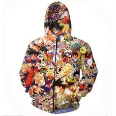 Dragon Ball Z Characters Hoodie Vegeta Goku 3D Hoodies Sweatshirt