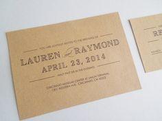 Urban Kraft Wedding Invitation, Vintage Wedding Invite, Printable on Etsy, $37.53 CAD