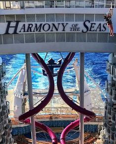 Harmony of the Seas   Soar across the top deck as you zip line from bow to stern and then take the plunge from the tallest slide at sea on the Ultimate Abyss. It's pure adrenaline and adventure when you cruise with Royal Caribbean onboard Harmony of the Seas.