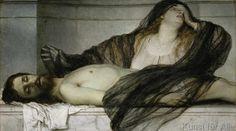 Arnold Böcklin - Trauer der Maria Magdalena an der Leiche Christi