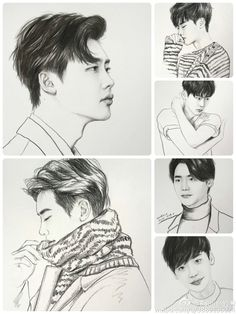 fan art Kpop Drawings, Cartoon Drawings, Cute Drawings, Ji Chang Wook Healer, Lee Jung Suk, Sung Kyung, Girl Sketch, Moon Lovers, Fan Art