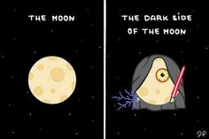 The dark side of the moon.