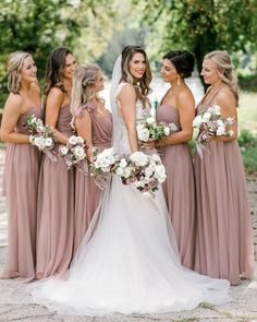 Christina Convertible Tulle Bridesmaid Dress in Sandy Mauve | Birdy Grey