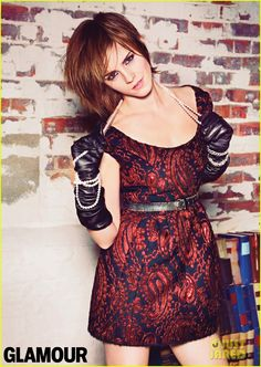 Emma Watson Covers 'Glamour' October 2012 ---Her hair is SO cute!!
