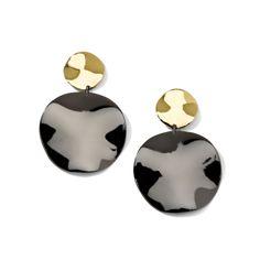 #Ippolita #Black #SterlingSilver & 18K #Gold Notte Medium Snowman #Earrings