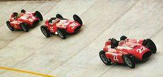 #22 Juan Manuel Fangio...Scuderia Ferrari...Ferrari D50...Motor Ferrari DS50 V8 2.5...#36 Stirling Moss...Officine Alfieri Maserati...Maserati 250F...Motor Maserati 250F1 L6 2.5...#26 Peter Collins...Scuderia Ferrari...Ferrari D50...Motor Ferrari DS50 V8 2.5...GP Italia 1956