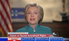 Hillary Clinton: 'American People Have No Constitutional Right To Bear Arms'
