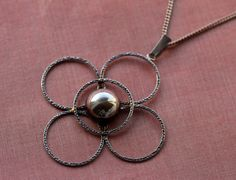 H.C. Østrem Norway. Silver pendant with chain. by RetroStilig