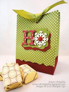 Cute bag-uses 2 of the Fancy Favor box die