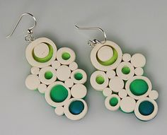 Polymer clay. great earrings but better as a pendant.
