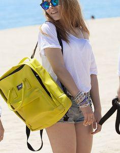 mochila verde pistacho-4 Backpacks, Bags, Fashion, Shopping, Green, Handbags, Moda, Fashion Styles, Taschen