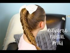 Learn the Reverse {Inverse} Fishtail Braid with this easy to follow video tutorial!  Tricky hairstyle but very beautiful!  {Feel free to re-pin!} x0x0