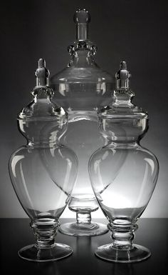 Glass Apothecary Jars (Set of 3)