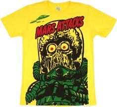 Mars Attacks Big Martian T Shirt Sheer